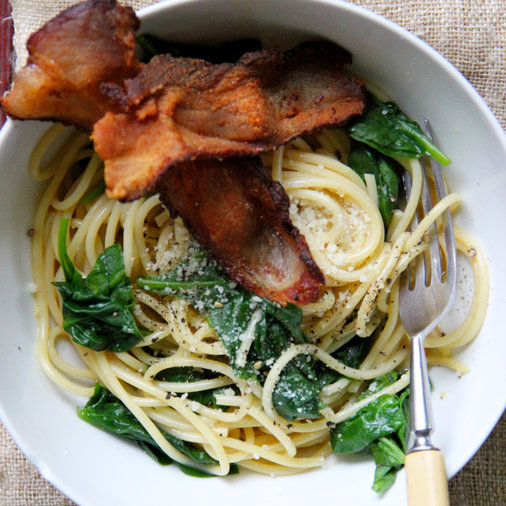 Bacon-Spinach Carbonara