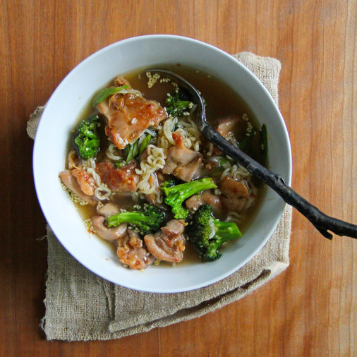 Chicken, Broccoli Ramen Noodle Soup