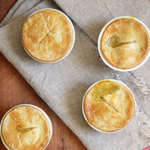 <p>Individual Chicken Pot Pies</p>