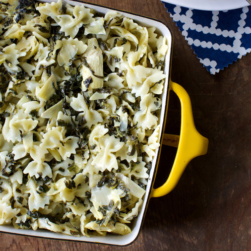 <p>Spinach and Artichoke Macaroni and Cheese</p>