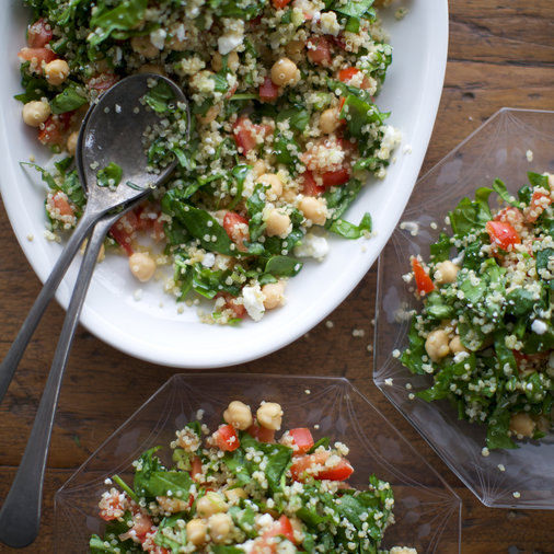 Quinoa, Chickpea and Spinach Salad