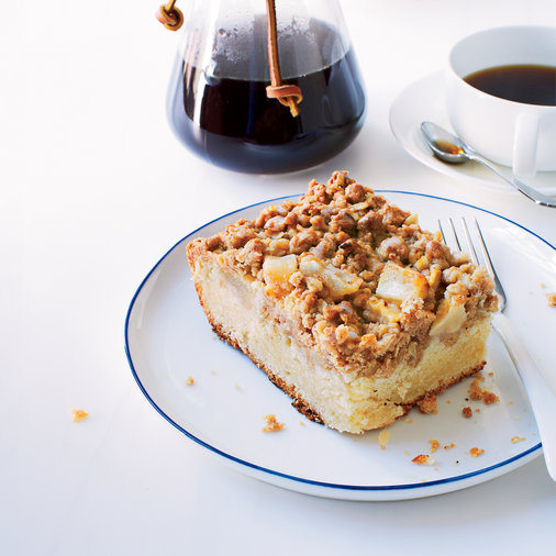 <strong>Pear and Sour Cream Coffee Cake</strong>