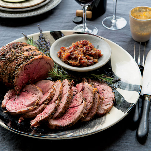 <p>Roast Leg of Lamb with Rosemary and Lavender</p>