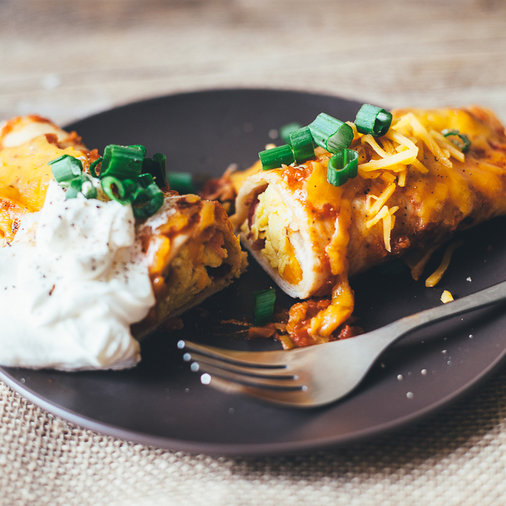 Bacon and Egg Breakfast Enchiladas