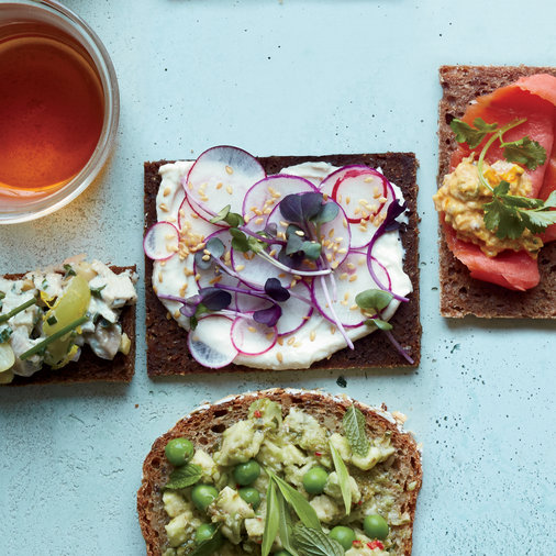 Radish Tea Sandwiches with Miso Yogurt