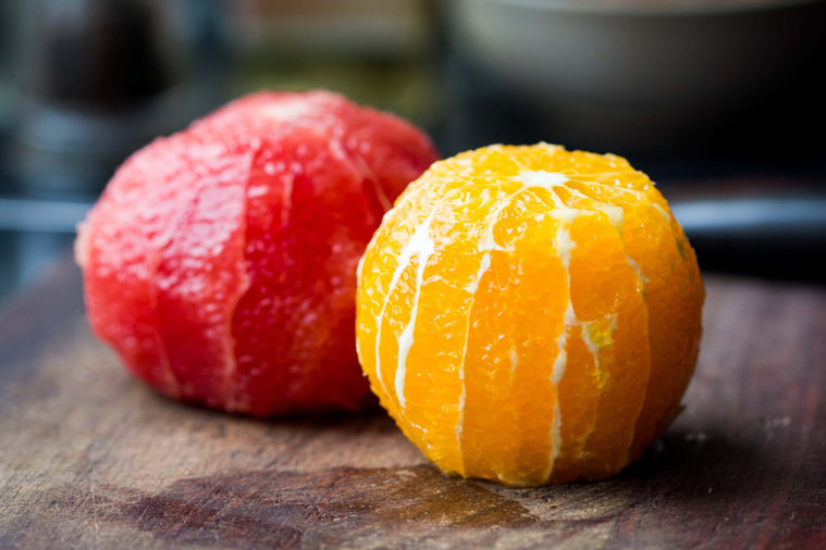 Grapefruit may have more vitamin A than an orange