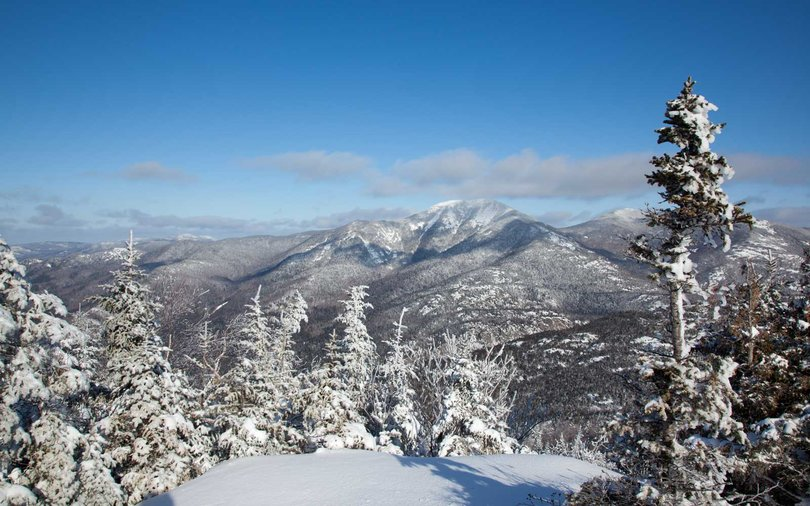 Noonmark Mountain Summit in Winter, Adirondacks