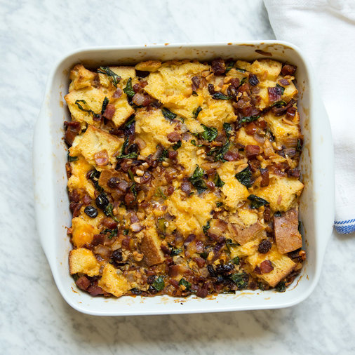 Savory Party Bread Recipe: Savory Bread Pudding