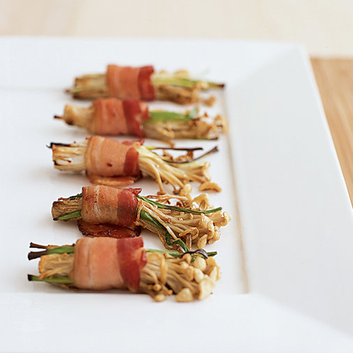 Bacon-Wrapped Enoki