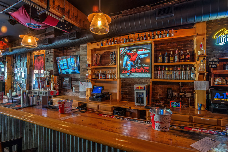 Bar with Cowboy Boots Alan Jackson New Bar