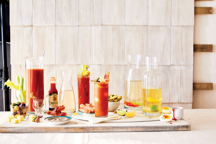 At the beach, everyone is up with the sun, which means happy hour comes just a little earlier in the day. Make the morning Mary-er with a house-made mix, infused vodkas, and garnishes galore. Get our ultimate guide to the best Bloody Mary bar ever, right