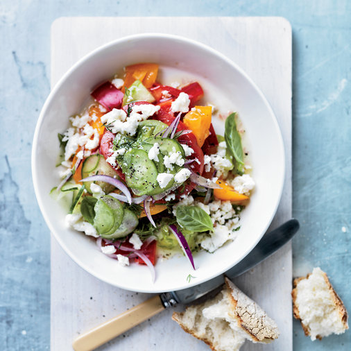 Tomato Salad with Red Onion Dill & Feta