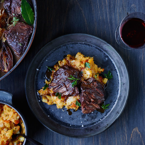 Braised Short Ribs with Root Vegetable Mash