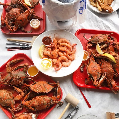 Food from Bubba's Seafood Restaurant and Crabhouse