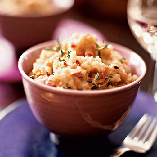 Caramelized Onion Risotto with Bacon