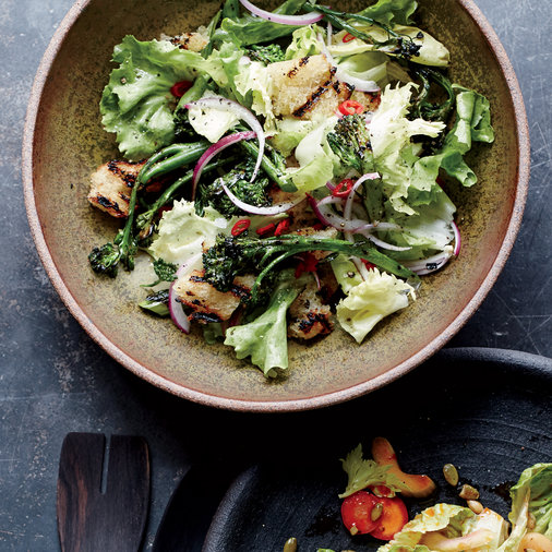 Charred Broccolini and Escarole Salad