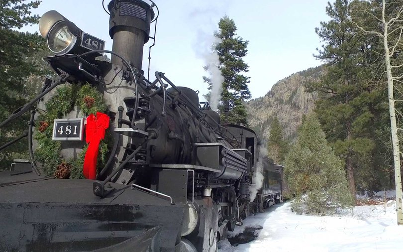 Passengers onboard the Christmas Tree Train will cut their very own tree to take home for the holidays.