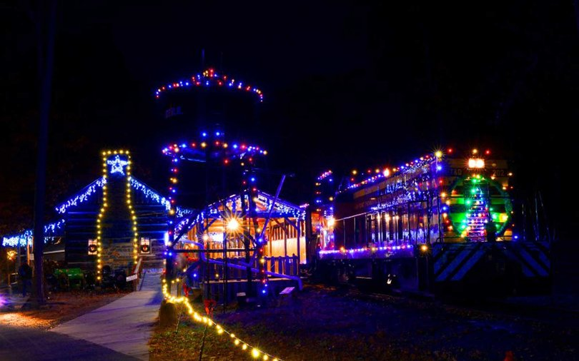 Enjoy train rides, gingerbread house tours, and more at the Denton FarmPark.