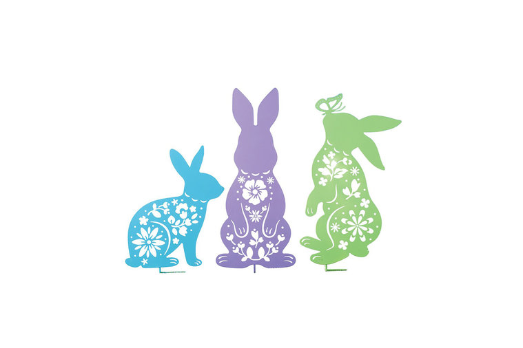 Easter Bunny Outdoor Garden Decoration Set of Three