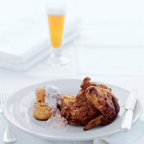 Fried Chicken with Tomato Gravy