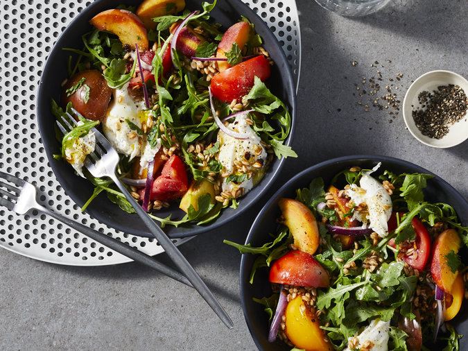 Clone of peach-tomato-and-fried-farro-salad-with-burrata-image-052819
