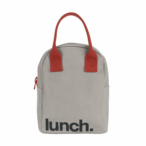 Lunch Bags for Women, gray bag from Fluf
