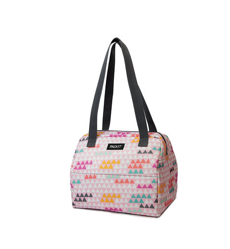 Lunch Bags for Women from PackIt, colorful triangle pattern bag