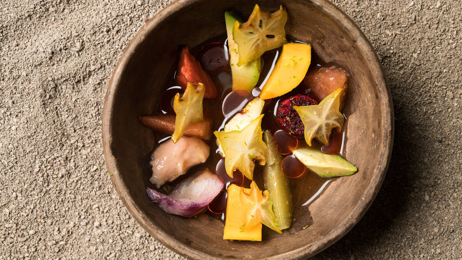 Tropical Fruit and Chile de Arbol