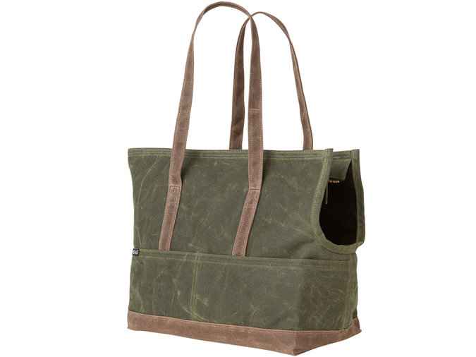 olive canvas pet tote