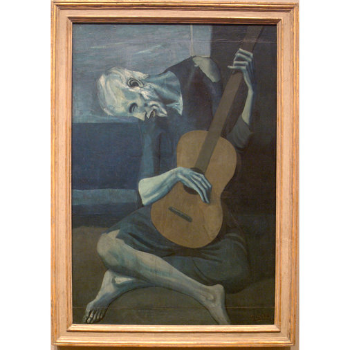 Picasso's cover-up in The Old Guitarist