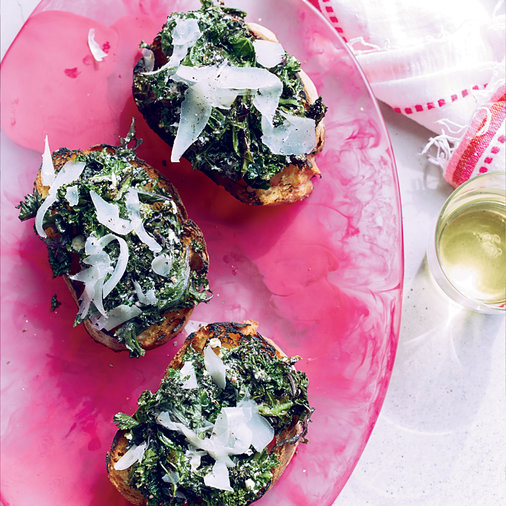 Grilled Kale Toasts