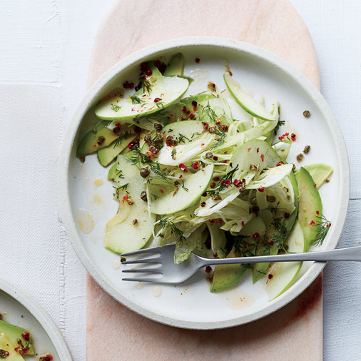 Fennel, Apple and Avocado Crudo
