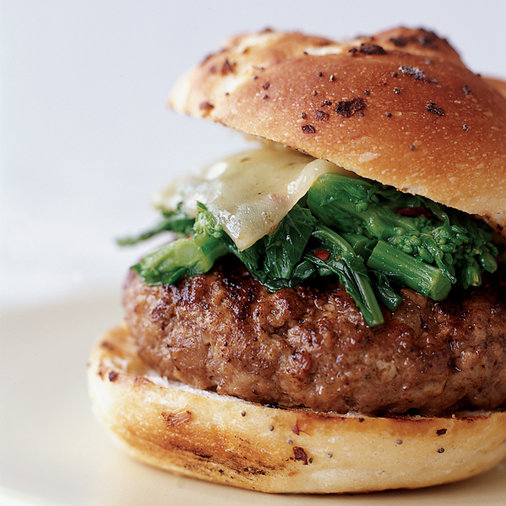Sausage and Broccoli Rabe Burgers