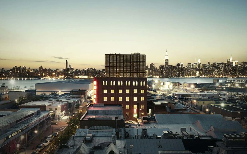 Wythe Hotel The Ides Rooftop Bar Williamsburg New York