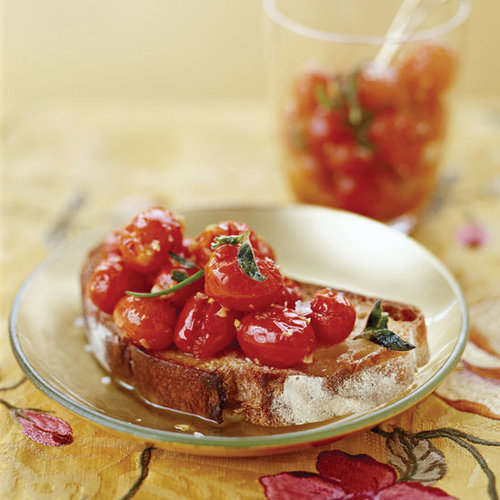 Roasted Grape Tomatoes and Garlic in Olive Oil