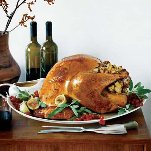 Roasted Turkey with Italian Sausage Stuffing