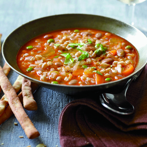 Healthy Mario Batali Recipe: Mixed Vegetable and Farro Soup