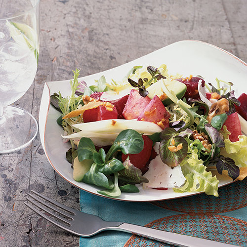 Watermelon and Papaya Salad with Tequila Vinaigrette