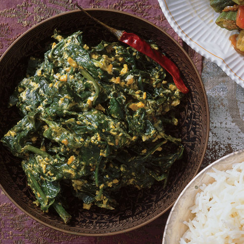 Spinach Simmered in Yogurt