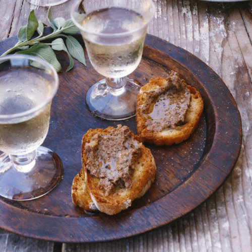 Chicken-Liver Crostini
