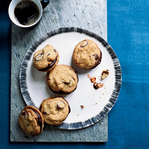 Ganache-Stuffed Chocolate-Chip Cookies