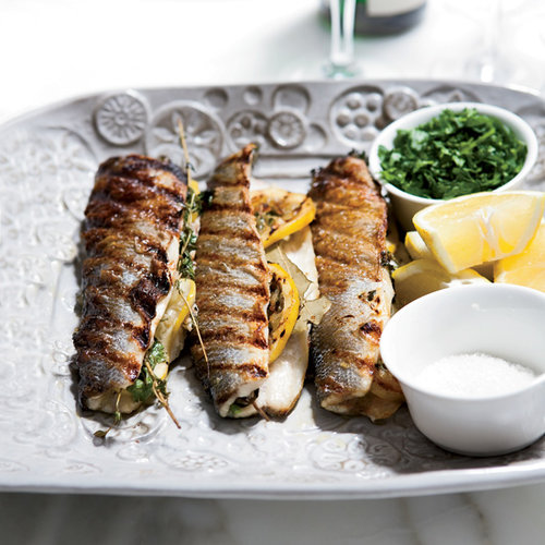 Lemon-Stuffed Grilled Branzino
