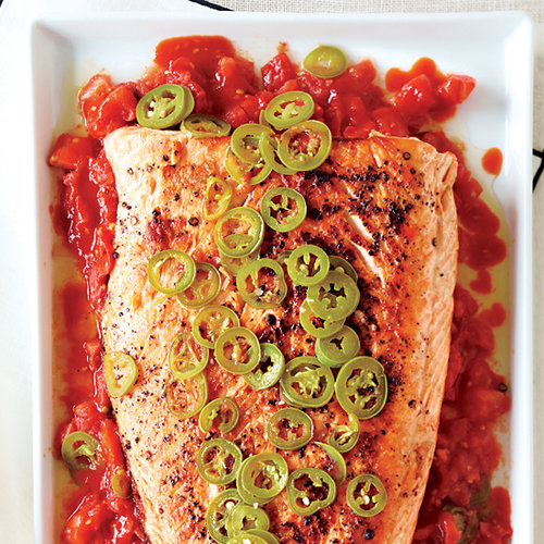 Grilled Salmon with Melted Tomatoes