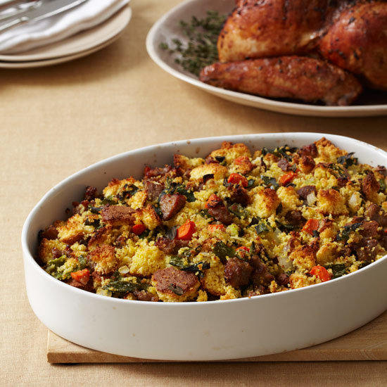 Corn Bread Stuffing with Country Sausage