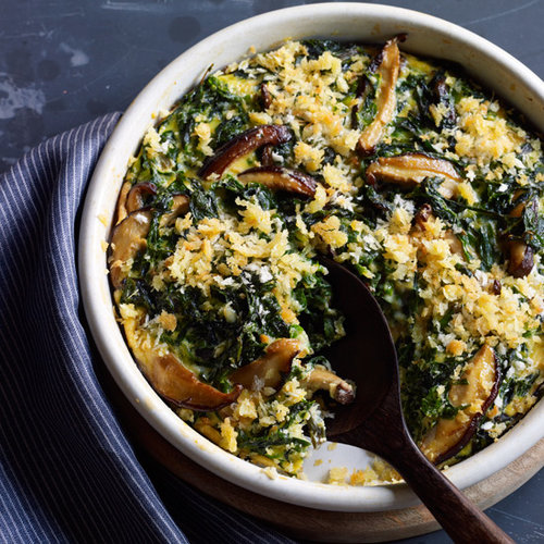 Swiss Chard Casserole with Shiitake Mushrooms