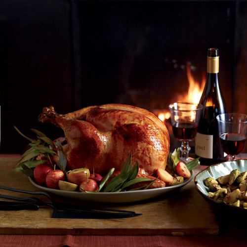 Cider-Glazed Turkey with Lager Gravy from Michael Symon's Heartland Thanksgiving Dinner Menu