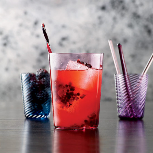 Bourbon Blackberry Collins