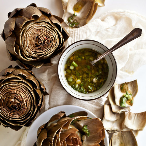 Artichokes with Scallion Vinaigrette