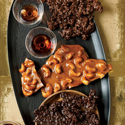 Spiced Cashew Brittle and Chocolate Crunch Bark