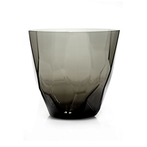 Smoky Glassware: Faceted